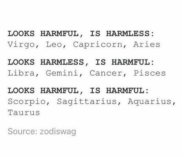 Zodiac Signs - Harmful VS Harmless - Wattpad