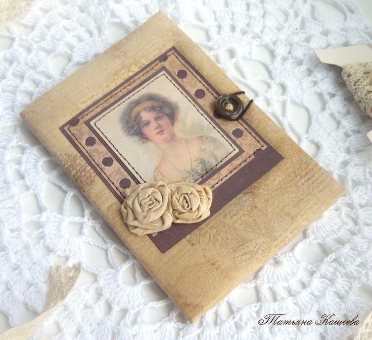 ДОСТУПНЫЙ СКРАП: Тканевая обложка на паспорт. Мастер-класс от Татьяны Кащеевой.