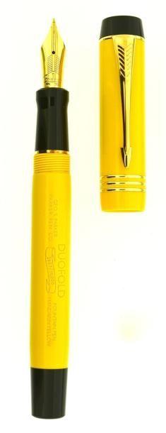 PARKER Mandarin, stylo plume Duofold Centennial en acrylique jaune de 1995, réédition du célèbre modèle Jaune Mandarin Streamline de 1930, couleur qui à l'époque de son lancement n'avait pas remporté un… - Artcurial - 06/12/2014