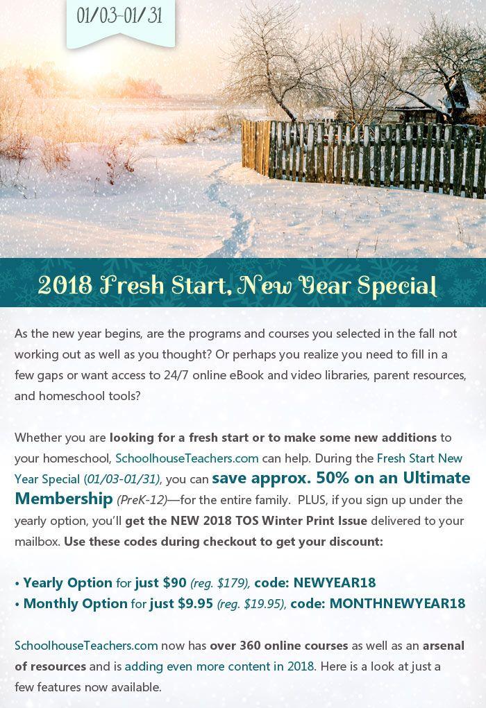 1118 best homeschool deals n steals images on pinterest free schoolhouseteachers 2018 fresh start new year special ultimate membership prek fandeluxe Choice Image
