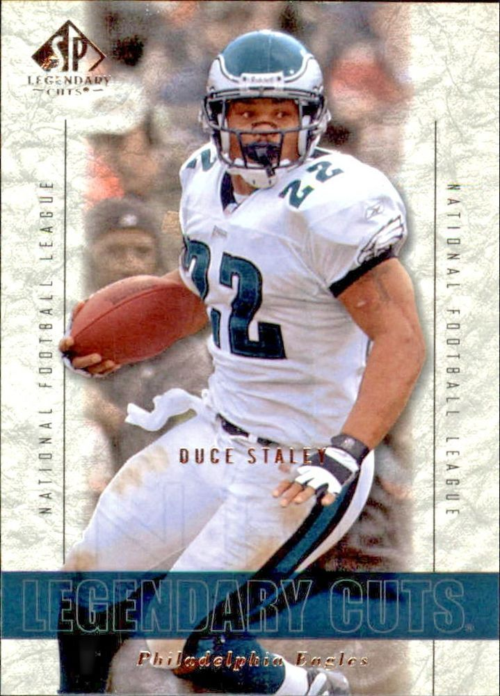 2002 SP Legendary Cuts #48 Duce Staley Team: Philadelphia Eagles