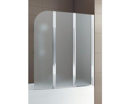 Parawan nawannowy Aquaform Modern 3 170-06979 profil-chrom szkło-satinato - AQUAFORM | Lazienki Wroclaw