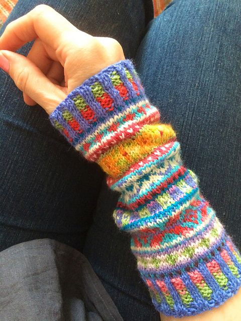 Ravelry: rosyretro's Fair Isle Cuffs                                                                                                                                                                                 More