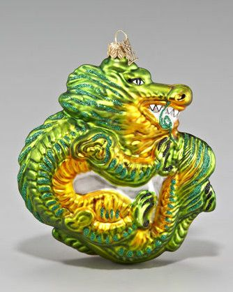 Dragon Ornament Asian holiday decorations for the tree.  #SilkRoadCollection