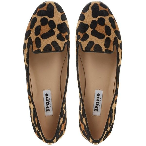 Dune Limbo Pony Print Loafers , Multi found on Polyvore