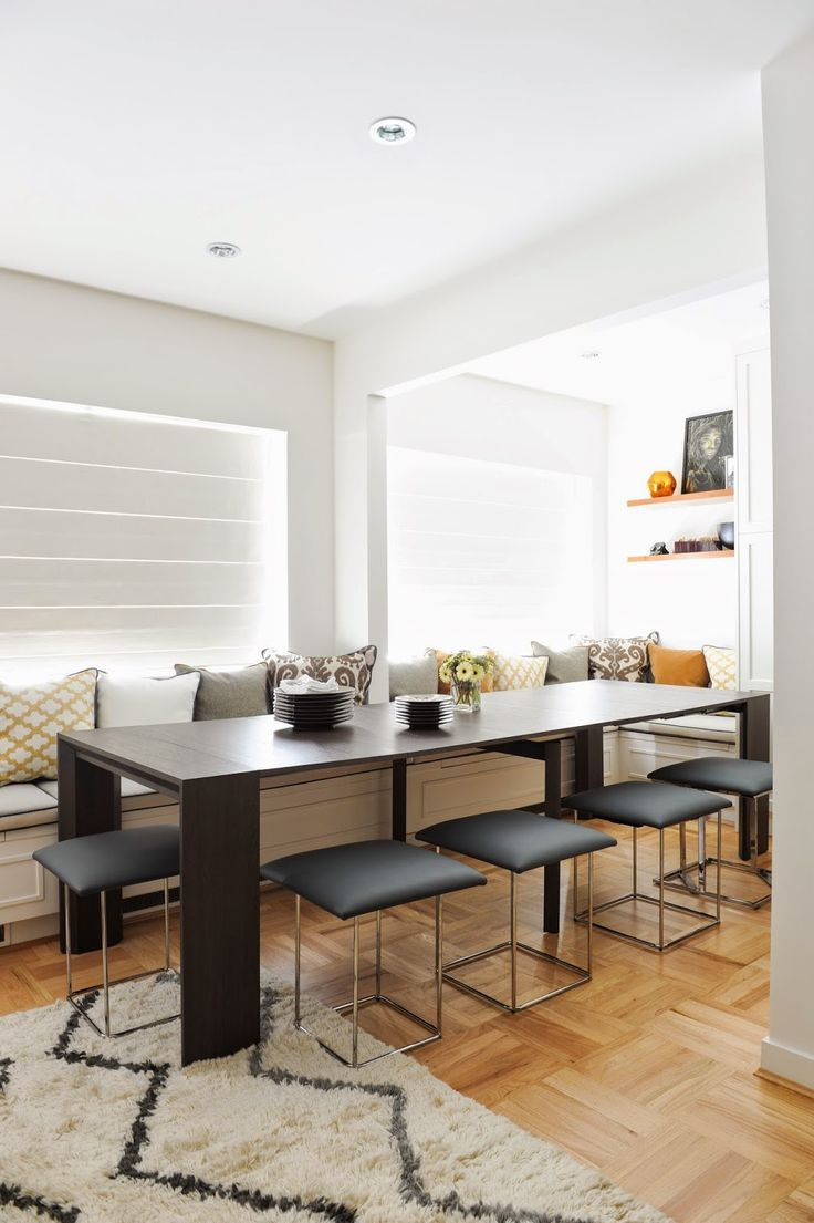 Space saving dining tables wenge minima simple aluminium dining table - Gray Magazine Product Of The Week Cubista From Resource Furniture And The Goliath Expanding Console To Dining Table
