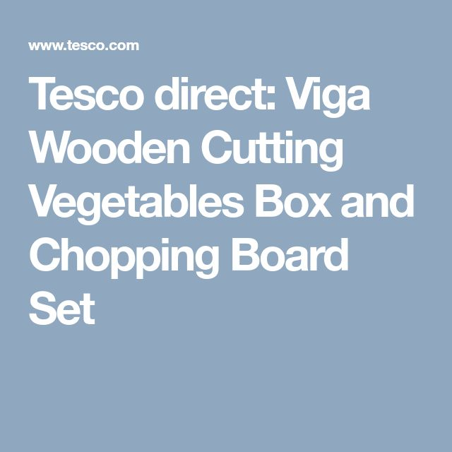 Tesco direct: Viga Wooden Cutting Vegetables Box and Chopping Board Set