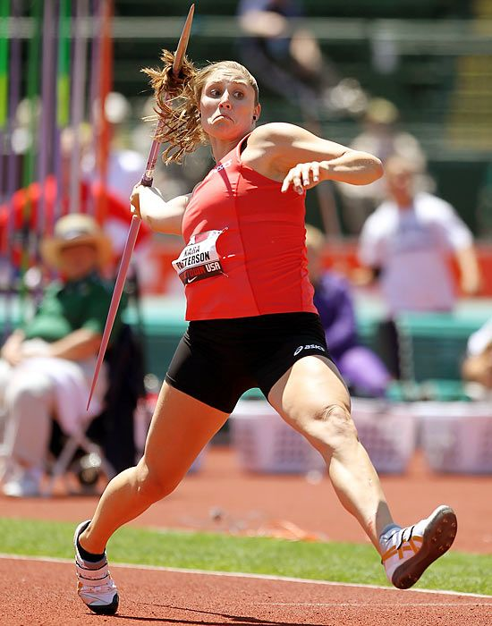 Track & Field Athletes To Watch for 2012 Olympics: Kara Patterson, America's top female javelin throwing hopeful, the 26-year-old Purdue graduate is the U.S. record holder. After qualifying for the Beijing Games in 2008, she placed just 41st, a mark she surely intends to improve upon in 2012.