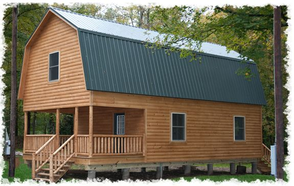 Steel gambrel barn kits hamilton cabins dream homes for Metal cabin kits