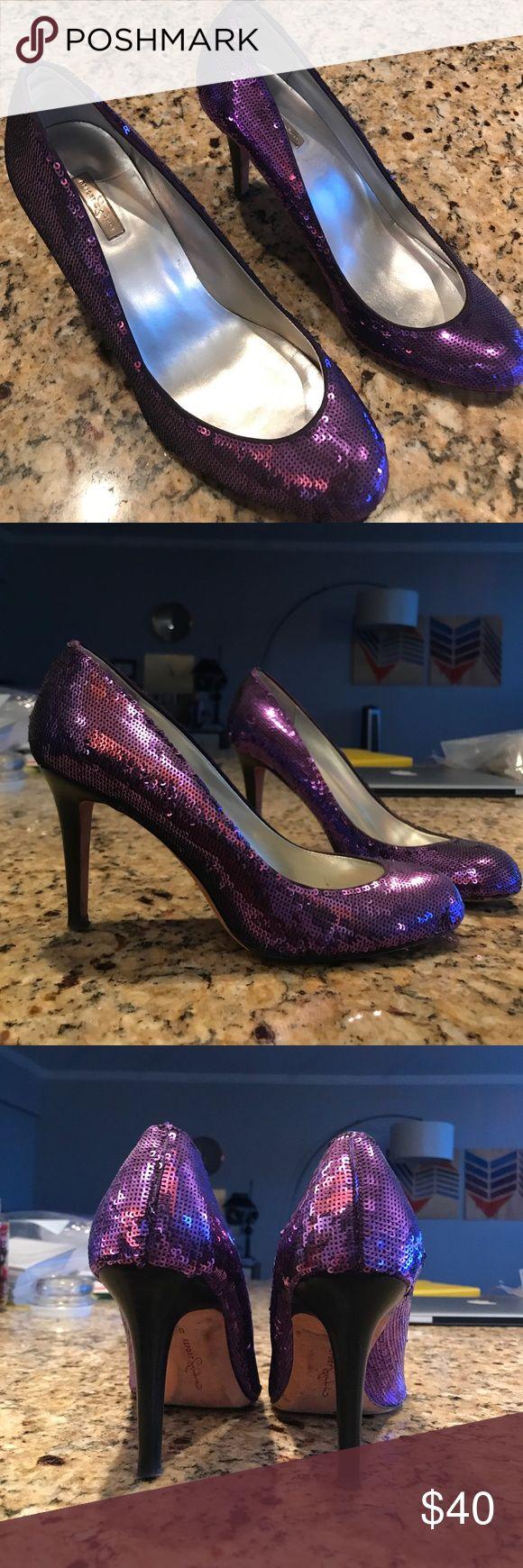 Purple sequined Report Signature heels Purple sequined Report Signature heels. 3.5 in heels. Great condition. Report Signature Shoes Heels