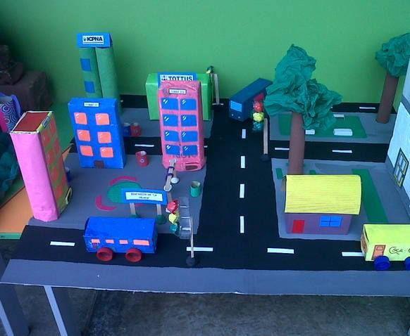 Carretera feta amb material reciclat