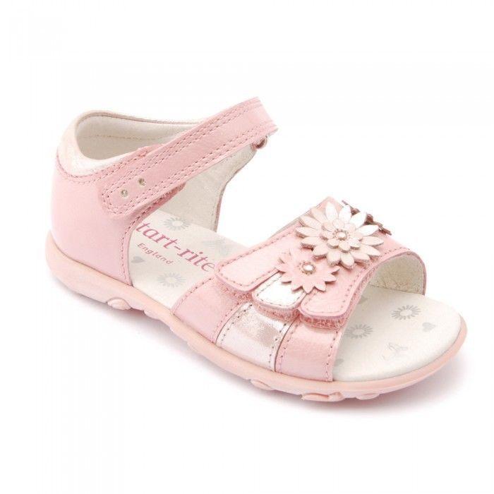 Startrite Clover Girls Pink Summer Sandals Size 5 5.5 6 6.5 7 7.5 8 Twin Velcro