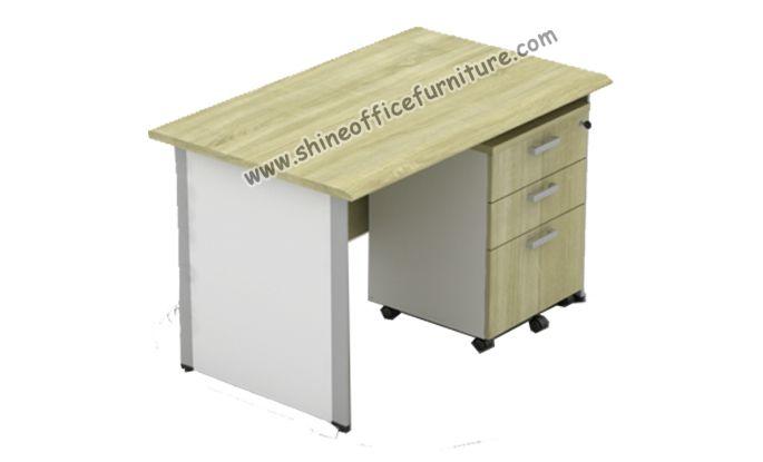 Meja kantor Power ukuran 120x75x75 cm include mobile pedestal.