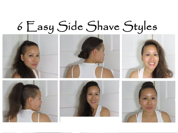 Up do for side shave hair