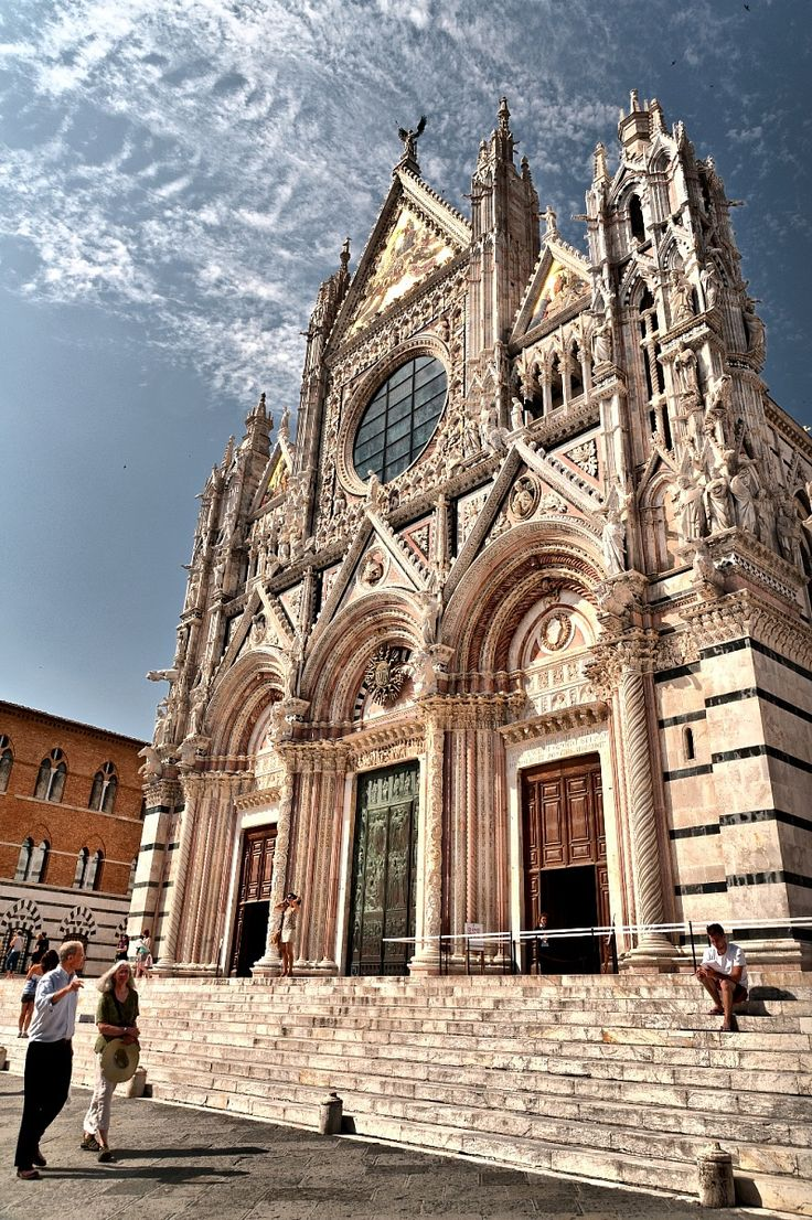 The beautiful Duomo di Siena in Tuscany, Italy.