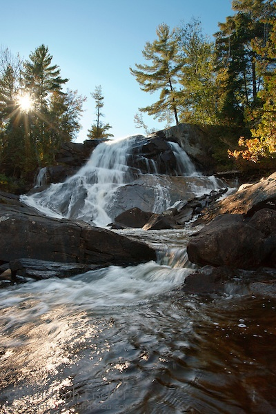 High Falls Waterfall East Side Algonquin Provincial Park Canada