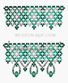 Free pattern for beaded necklace Emily   Beads Magic Could be used as the middle of ornament
