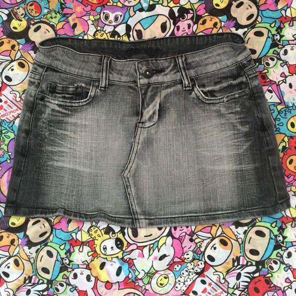 Grey denim micro mini skirt XS Soft denim micro mini skirt. 10 inches long from top to bottom. N/a Skirts Mini