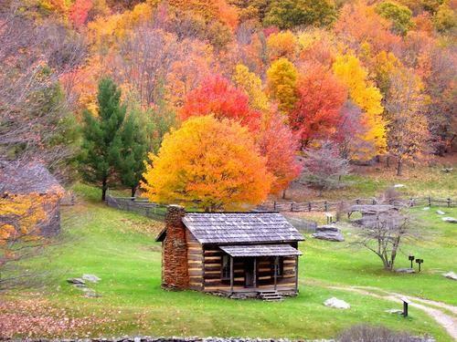 Smokey Mtn. Cabin: Farms House, Parks Benches, Autumn, Fall, National Parks, Mountain Cabin, Cades Cove, Smoky Mountain, Logs Cabin