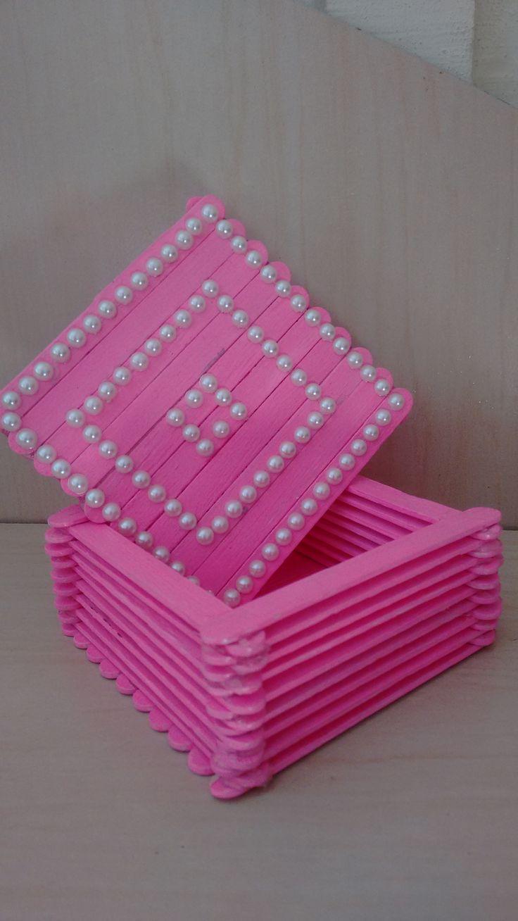 caixa de palito de picolé