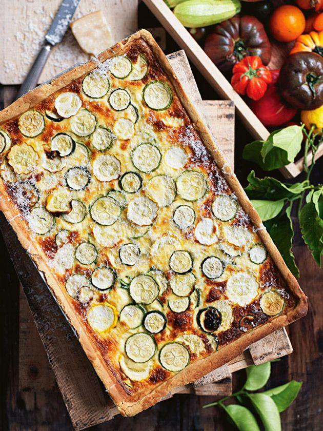 zucchini and provolone tart