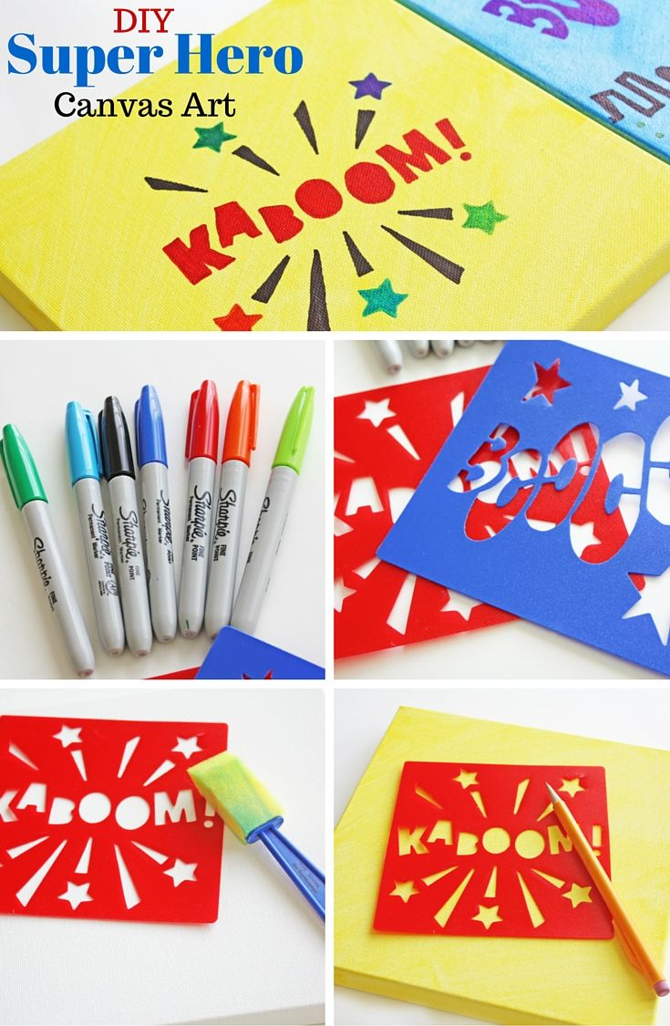 Create Your Own Stencil Canvas Art With Sharpies®! This Easy And Quick DIY  Canvas Art Project Will Have Your Kidsu0027 Walls Looking Fabulous In No Time.