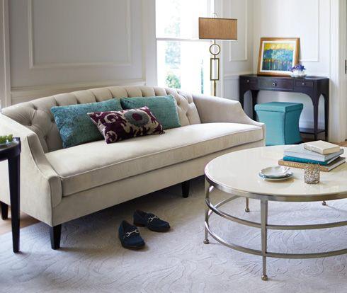 Diane Sofa At Belfort Furniture; Great Teal Stool Too