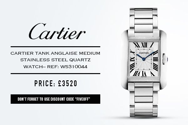 """The Incomparable #Cartier Tank #Anglaise - £3520  Use #voucher """"FIVEOFF"""" for a further #discount  http://taggled.tv/play/7170"""