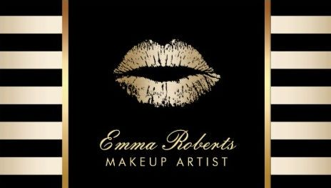 Gold Lips Makeup Artist With Modern Black  Gold Stripes Business Cards http://www.zazzle.com/makeup_artist_gold_lips_modern_black_gold_stripes_double_sided_standard_business_cards_pack_of_100-240805068508851157?rf=238835258815790439&tc=GBCCosmetology1Pin