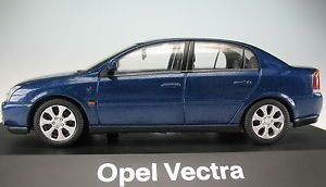 a schuco opel vectra metalizado azul 143 nuevo en ovp maqueta de coche