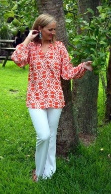 The Lilly Top in Coral Cassis