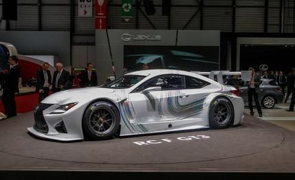 Lexus introduces its race-ready RC F GT3 coupe at Geneva. Full details and photos at Car and Driver.