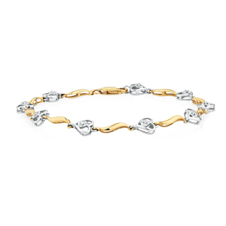 Diamond bracelet 10ct Gold SKU Available in Australian