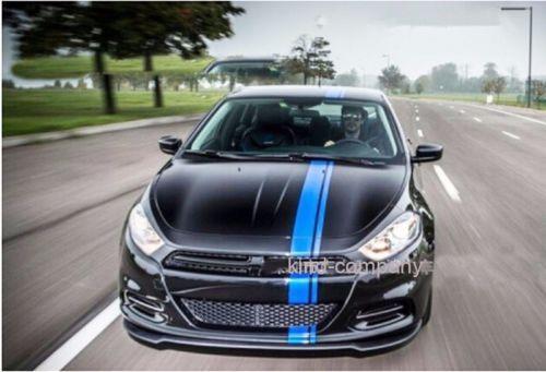2-un-Azul-Sport-Racing-Pegatina-de-vinilo-Calcomanias-Para-Coche-Auto-Motor-Capucha-cuerpo-lateral