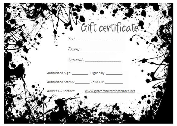 Gift Certificate for Services Template Download Options for - create a voucher