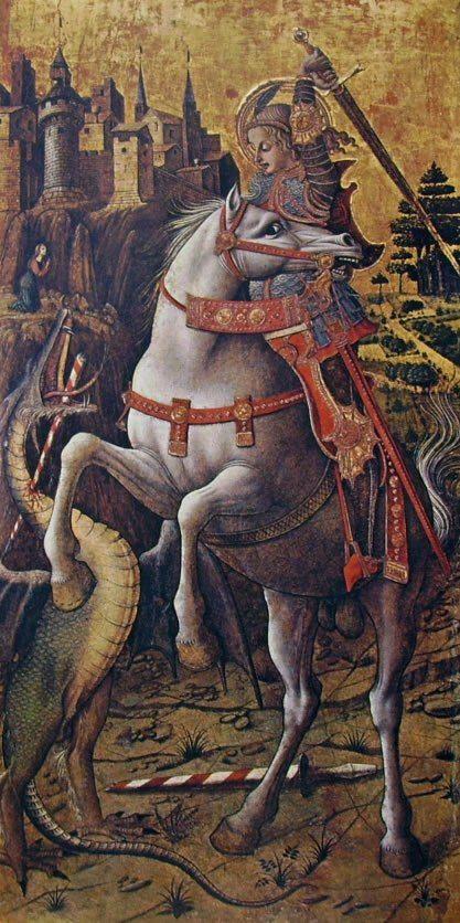 Polittico di Porto San Giorgio - San Giorgio e il drago