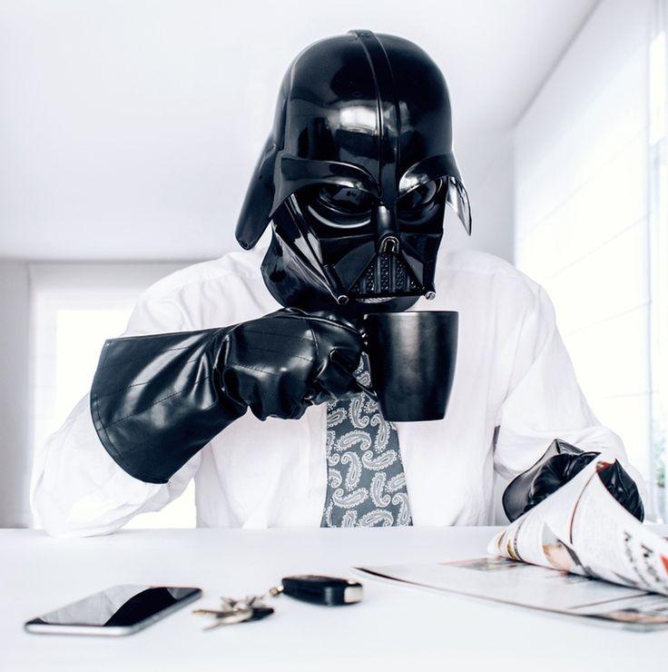 Dark Vador au quotidien : obscures journées | Vador, Café, Star wars