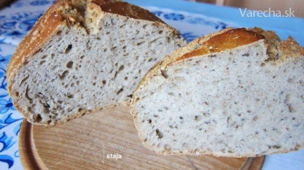 Kváskový chlieb pšenično - ražný s celozrnnou múkou (fotorecept) - Recept