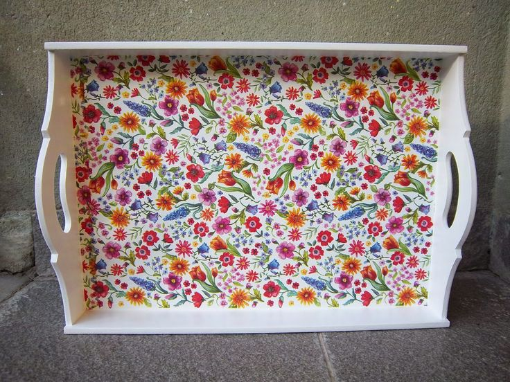 Naranja y Fucsia: Bandeja floral