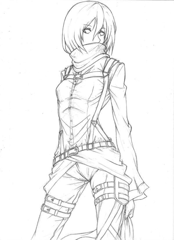 Https Www Deviantart Com Chronelic Art Mikasa Ackerman 384319864
