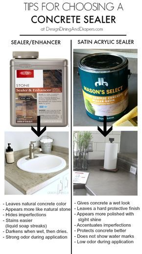 Tips for Choosing A Concrete Countertop Sealer by designdininganddiapers.com