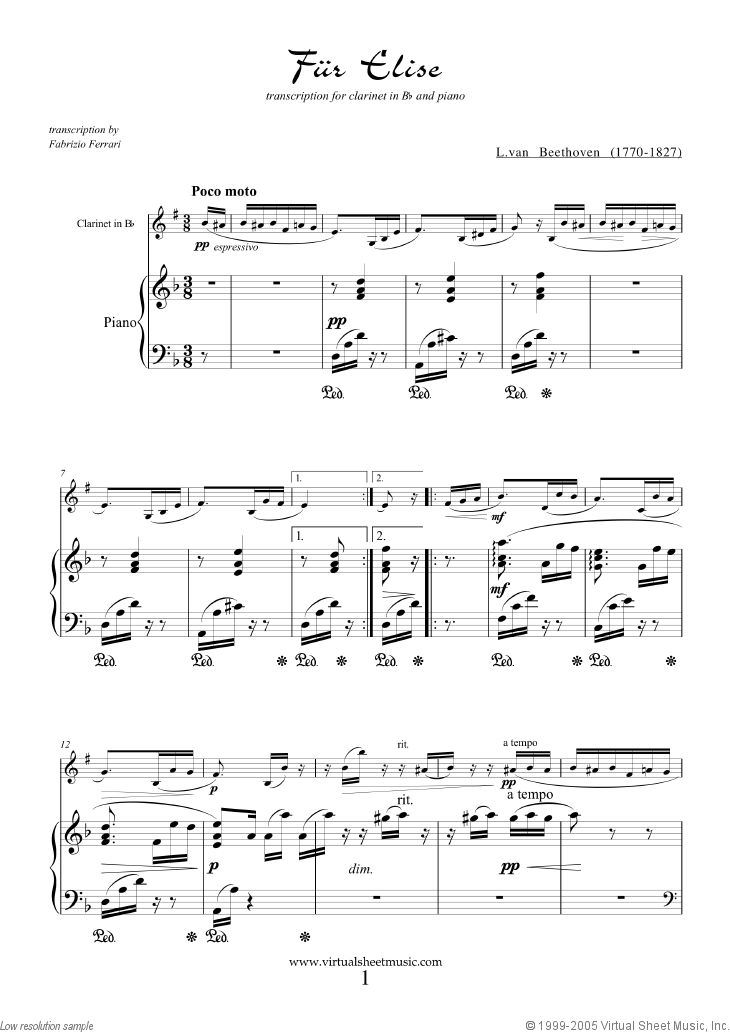 All Music Chords beethoven s 5th sheet music : 58 best Clarinet Sheet Music images on Pinterest | Piano, Pianos ...
