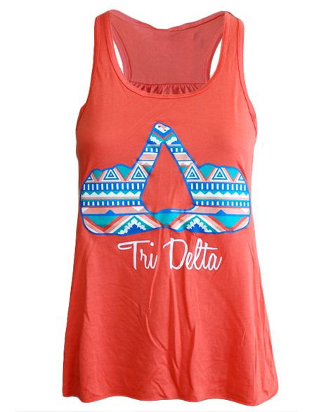 Delta Delta Delta Geometric Hands Tank by Adam Block Design | Custom Greek Apparel & Sorority Clothes | www.adamblockdesign.com