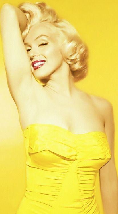 Yellow:  #Yellow ~ Marilyn Monroe.