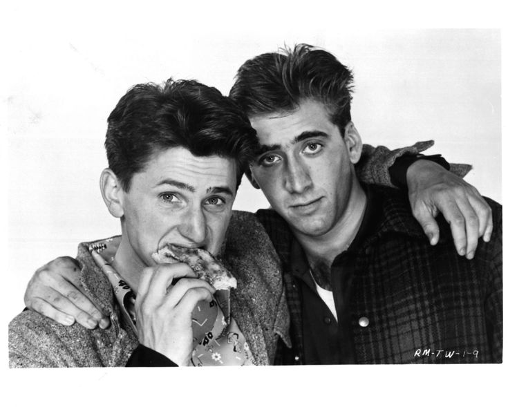 Sean Penn and Nicolas Cage in 1984.