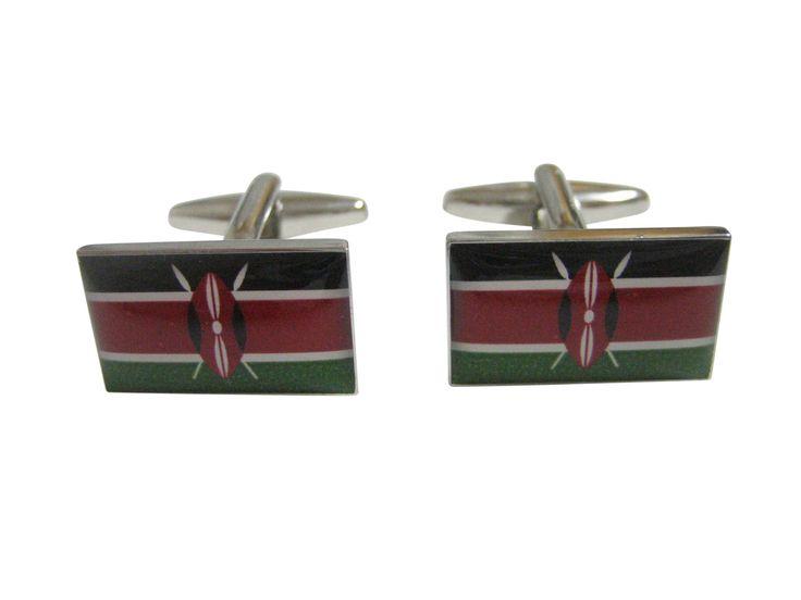 Kenya Flag Cufflinks