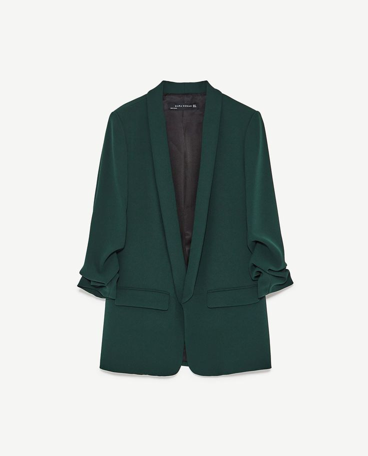 Image 8 of ROLL-UP SLEEVE JACKET from Zara