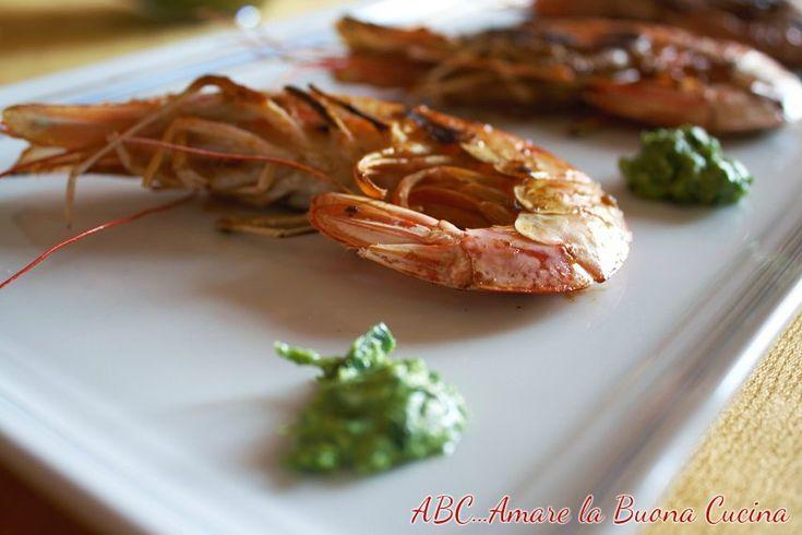 gamberoni alla griglia con salsa al prezzemolo 2