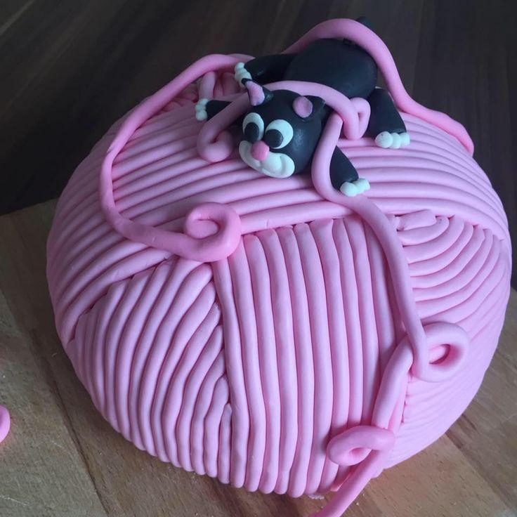 Torte Katze Wolle