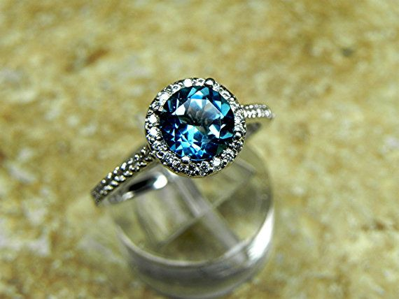 AAAA 7.00 mm Round Natural London Blue Topaz by mastergoldcraft, $695.00